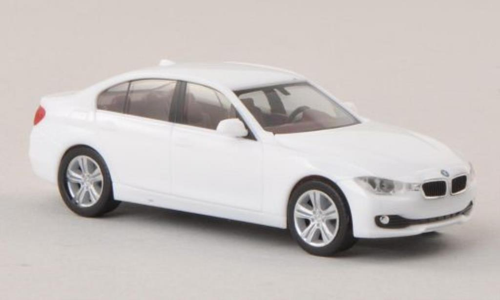 Bmw 330 F30 1/87 Herpa Limousine white diecast model cars