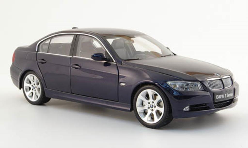 Bmw 335 E90 1/18 Kyosho Serie (E 90) bleu diecast model cars
