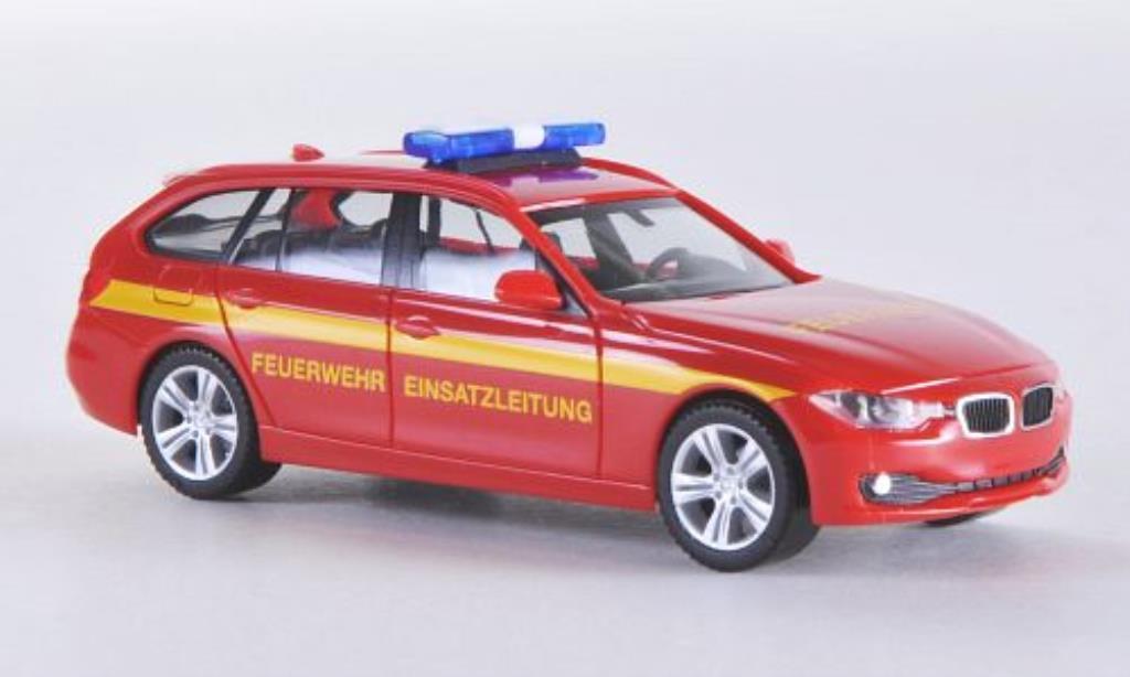 Bmw 330 F31 1/87 Herpa Touring Feuerwehr Einsatzleitung 2012 miniatura