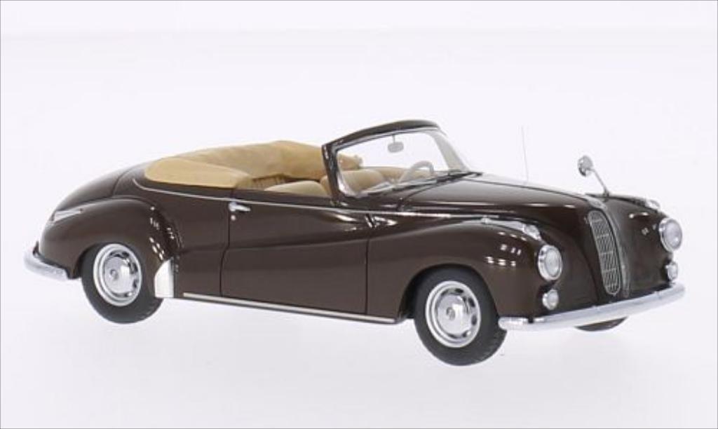 Bmw 502 1/43 Neo Cabriolet Autenrieth marron 1956 miniature