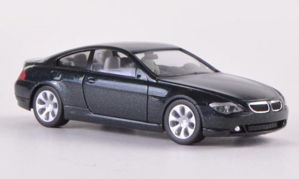 Bmw 635 E63 1/87 Herpa d Coupe grun 2004 miniature