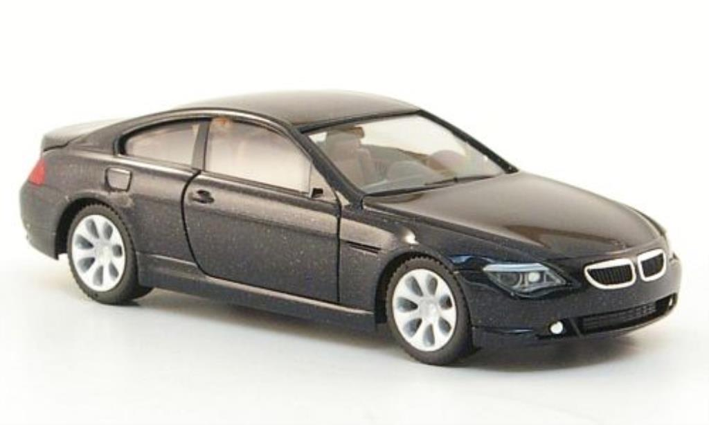 Bmw 630 E63 1/87 Herpa Coupe black 2004 diecast model cars