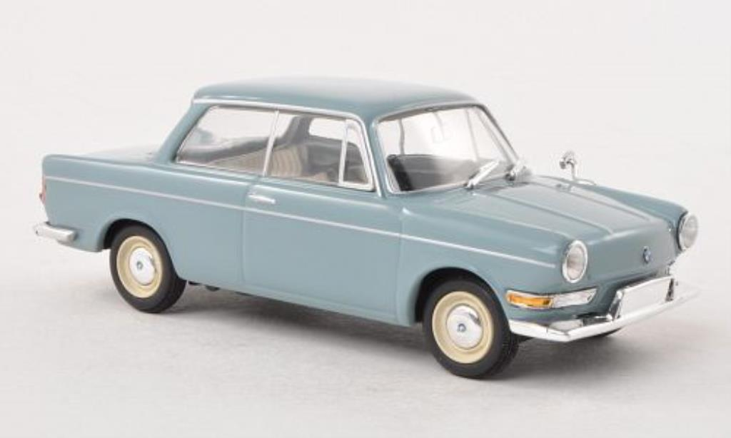 Bmw 700 1/43 Minichamps LS bleu-grey 1960 diecast model cars