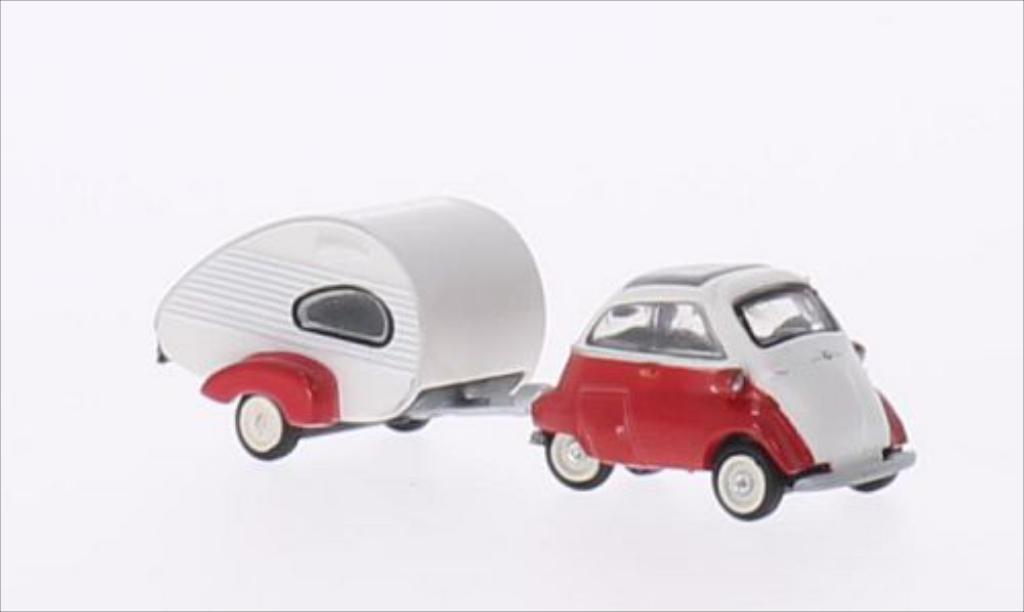 Bmw Isetta 1/87 Schuco Export rouge/blanche miniature