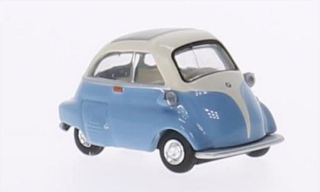 Bmw Isetta 1/64 Schuco bleu/white diecast model cars
