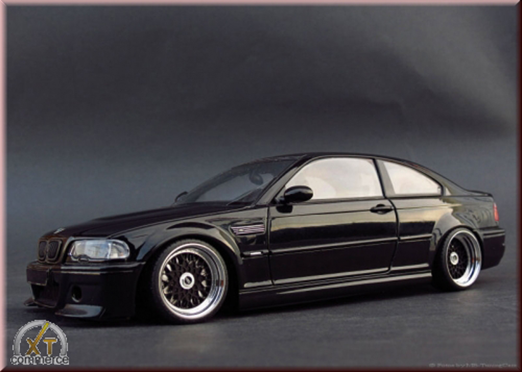 Bmw M3 E46 1/18 Autoart CSL black jantes BBS 18 pouces tuning diecast model cars