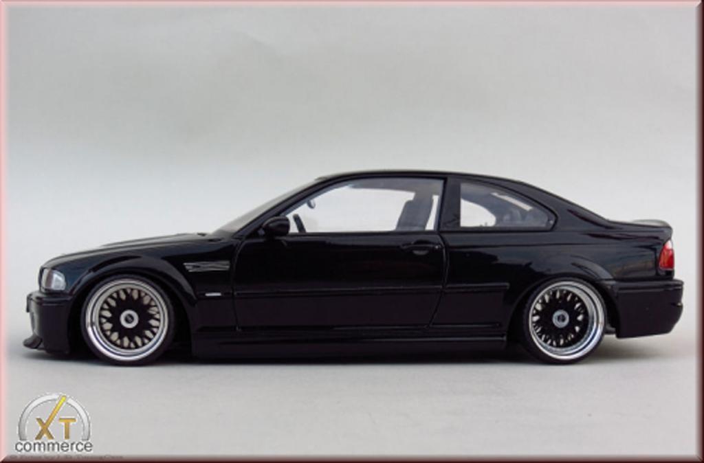 bmw m3 e46 miniature csl noire jantes bbs 18 pouces autoart 1 18 voiture. Black Bedroom Furniture Sets. Home Design Ideas