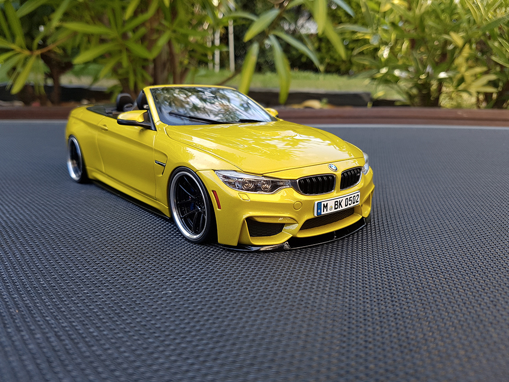 Bmw M4 F83 1/18 Paragon cabriolet jaune M performance tuning miniature