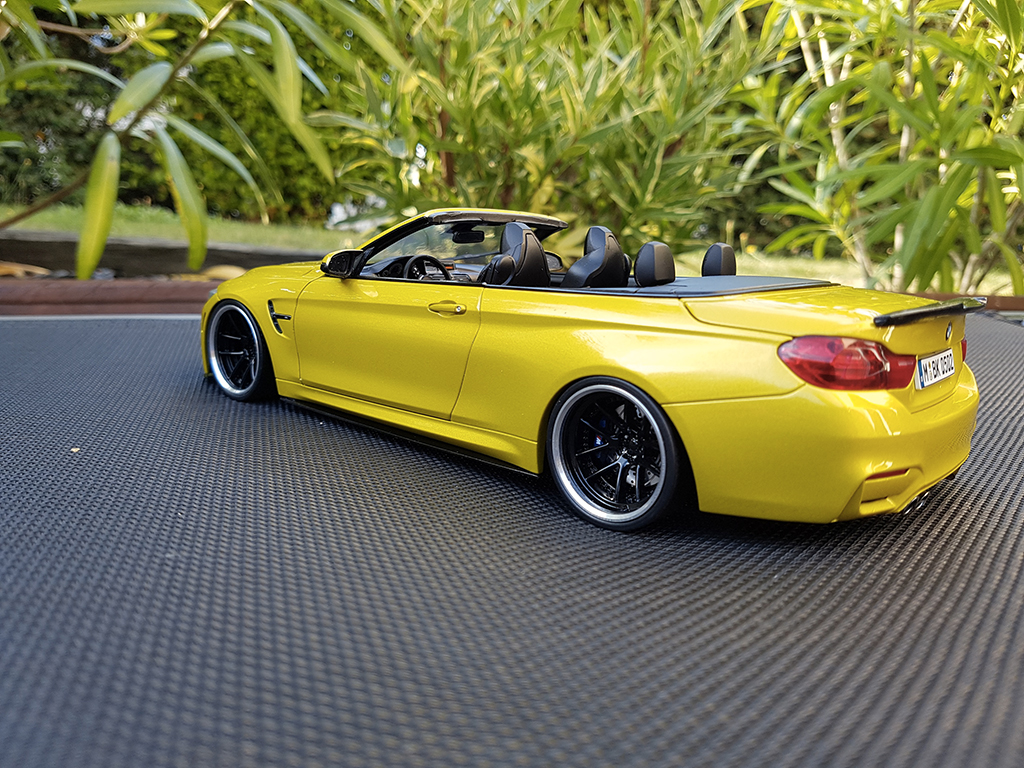 Bmw M4 F83 1/18 Paragon cabriolet giallo M performance