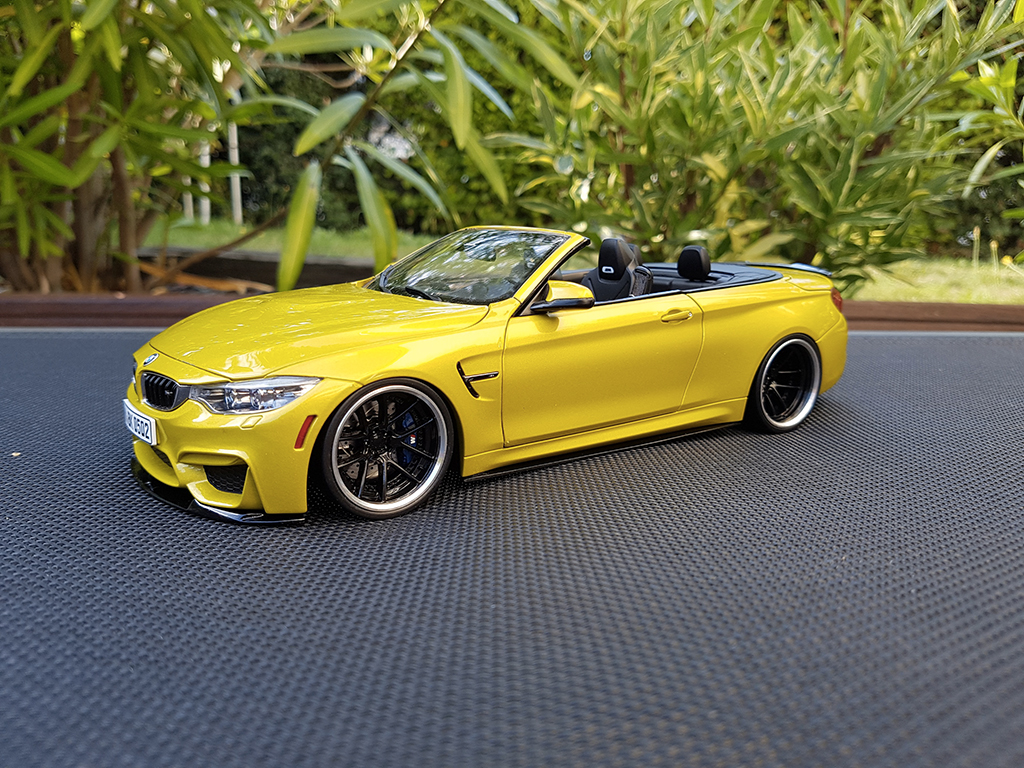 bmw m4 f83 cabriolet yellow m performance paragon diecast model car 1 18 buy sell diecast car. Black Bedroom Furniture Sets. Home Design Ideas