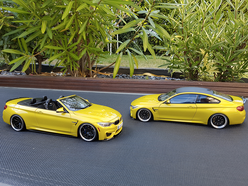 Bmw M4 F83 1/18 Paragon cabriolet yellow M performance