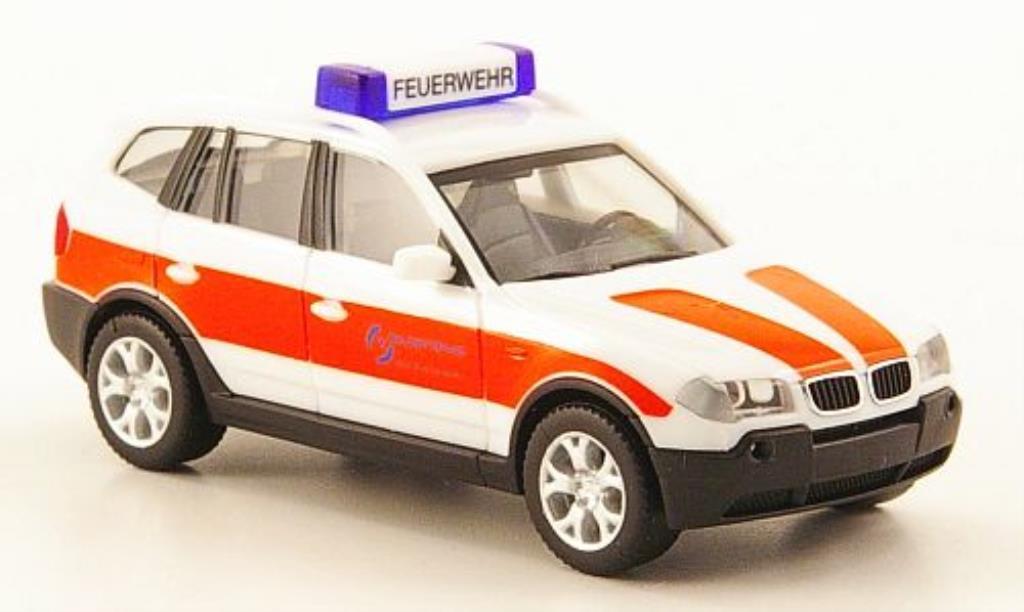 Bmw X3 E83 1/87 Herpa ELW Werksfeuerwehr Salzgitter AG diecast model cars
