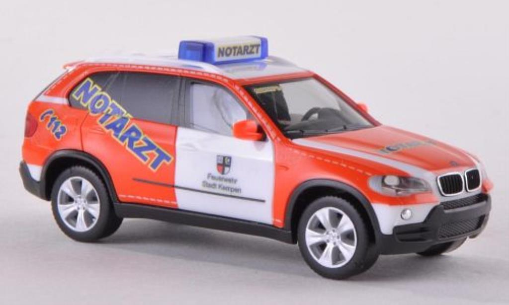 Bmw X5 E70 1/87 Herpa Notarzt Feuerwehr Kempen diecast model cars