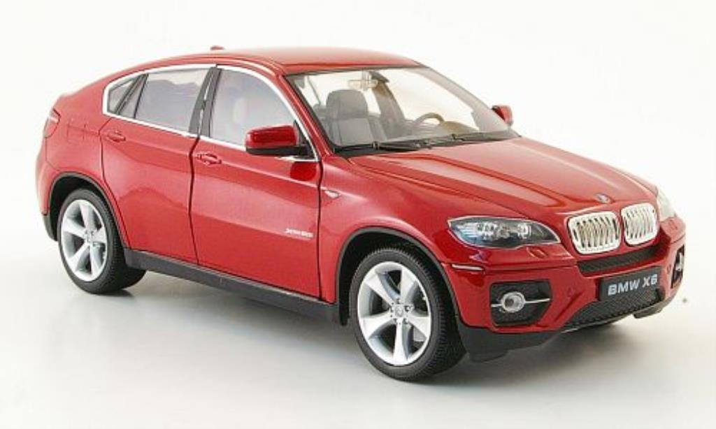 bmw x6 e71 miniature rouge welly 1 24 voiture. Black Bedroom Furniture Sets. Home Design Ideas