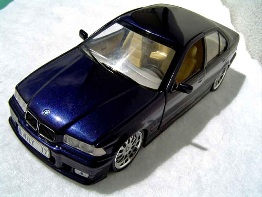 Bmw 325 E36 1/18 Ut Models berline tds kit m3 bleu metallized