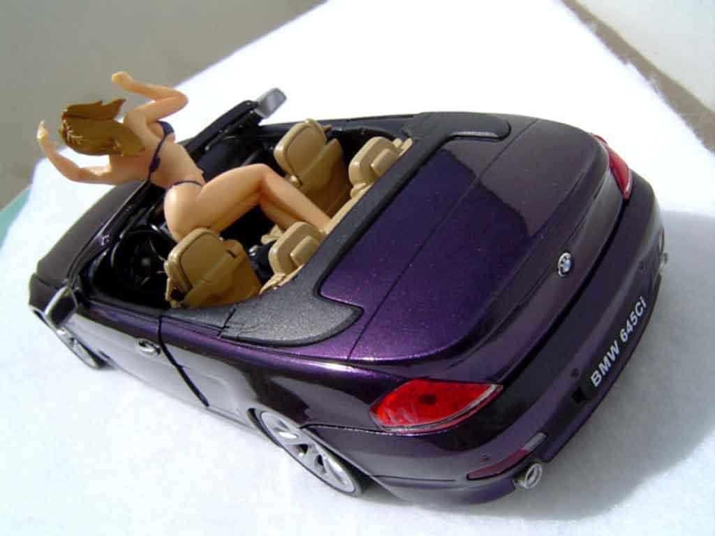 Bmw 645 E64 1/18 Welly ci cabriolet pneus tailles basses