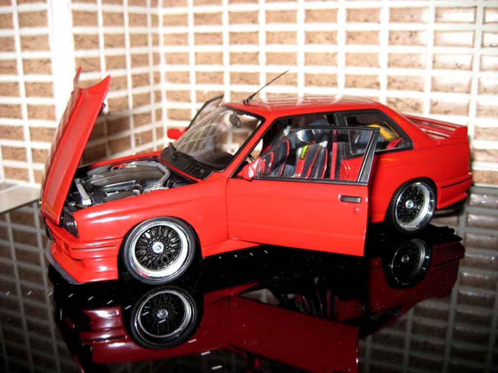 Bmw M3 E30 1/18 Autoart swap moteur v10