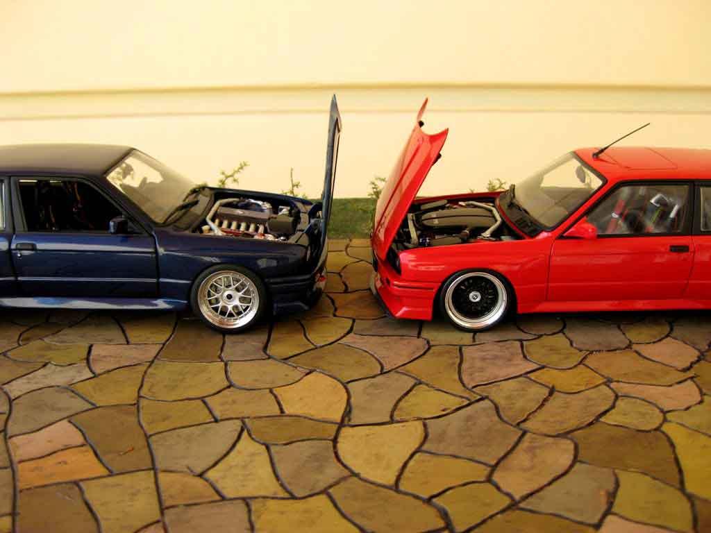 Bmw M3 E30 1/18 Minichamps rsi evolution swap moteur v10