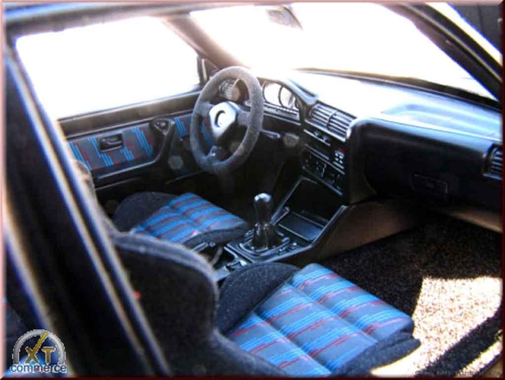 Bmw M3 E30 1/18 Autoart sport evolution nero jantes bbs rs 17 pouces