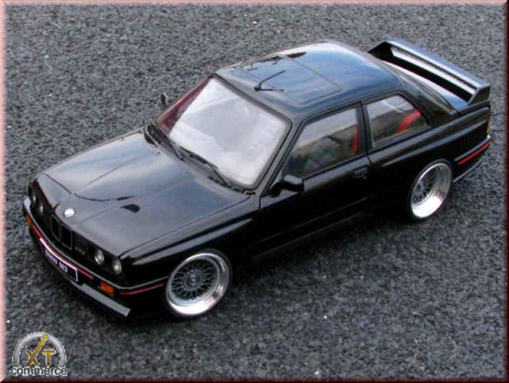 Bmw M3 E30 1/18 Autoart sport evolution negro jantes bbs rs 17 pouces