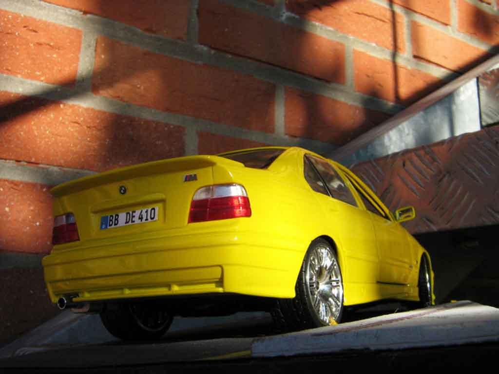 Bmw M3 E36 berline 1/18 Ut Models rtr gelb carlux jantes m3 gtr