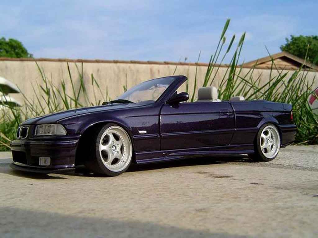 bmw m3 e36 cabriolet convertible techno violet wheels porsche ut models diecast model car 1 18. Black Bedroom Furniture Sets. Home Design Ideas