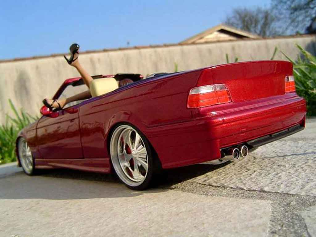 Bmw M3 E36 cabriolet 1/18 Ut Models red jantes budnik tuning diecast model cars