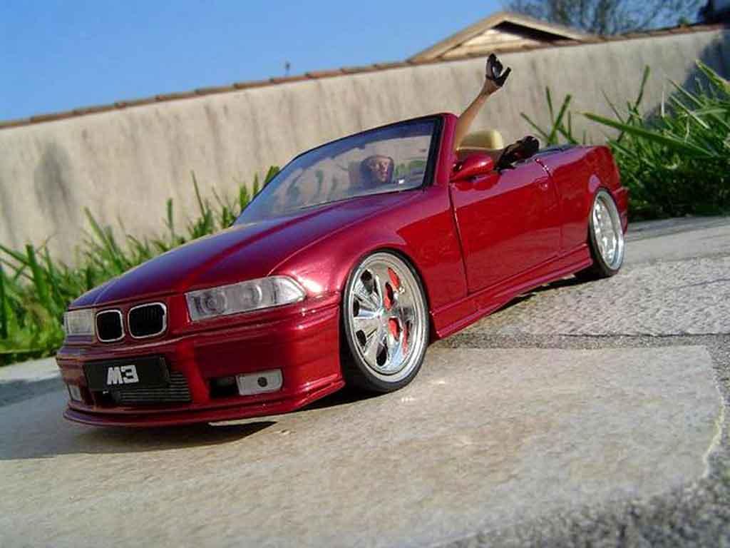 Bmw M3 E36 cabriolet 1/18 Ut Models red jantes budnik