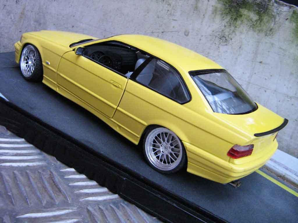 Bmw M3 E36 1/18 Ut Models jaune jantes bbs le mans feux arriere 3.2