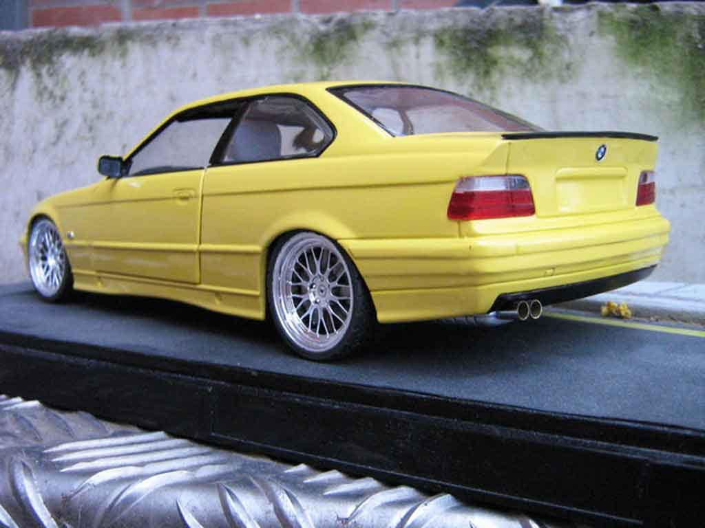 Bmw M3 E36 1/18 Ut Models jaune jantes bbs le mans feux arriere 3.2 tuning modellino in miniatura