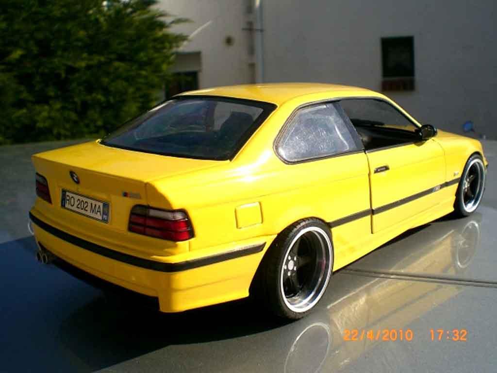 Bmw M3 E36 1/18 Ut Models jaune jantes ac schnitzer 18 pouces