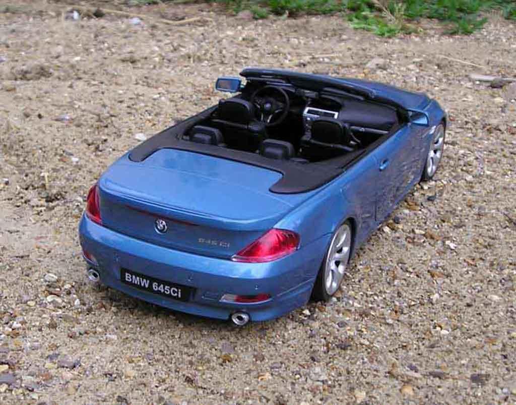 Bmw 645 E64 1/18 Welly ci cabriolet tuning