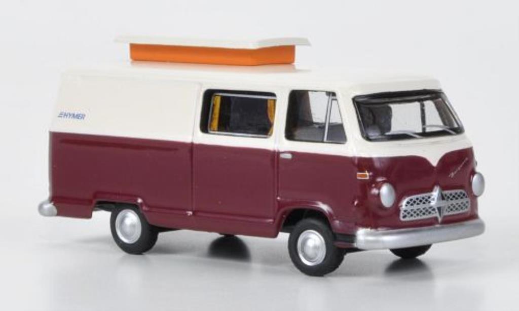Borgward Hymer 1/87 Bub Caravano rouge-blanche miniature
