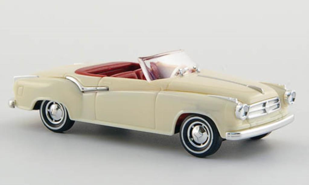 Borgward Isabella 1/87 Busch Cabriolet creme-blanche 1958 miniature