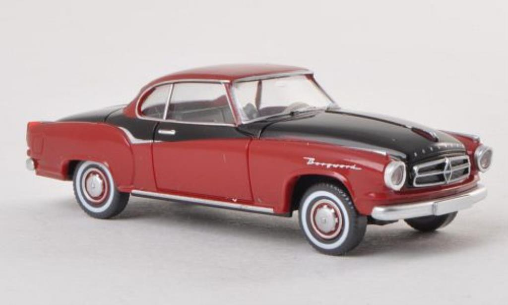 Borgward Isabella 1/87 Wiking Coupe rouge/noire miniature