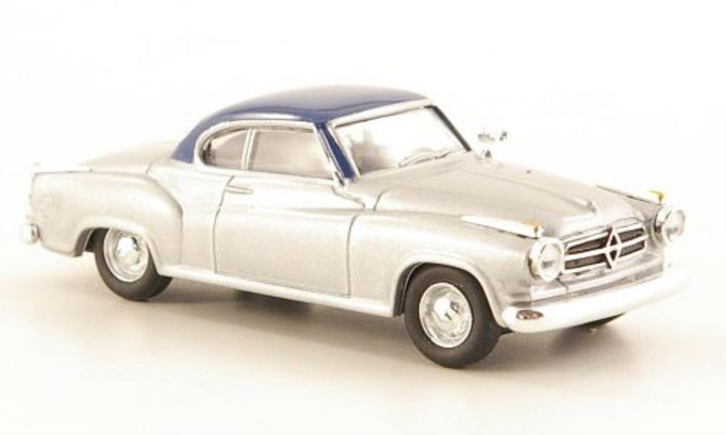 Borgward Isabella 1/87 Herpa Coupe grise/bleu miniature