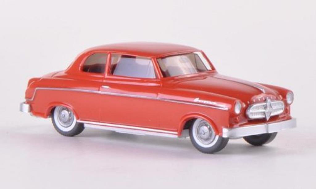 Borgward Isabella 1/87 Wiking Limousine rouge-marron miniature