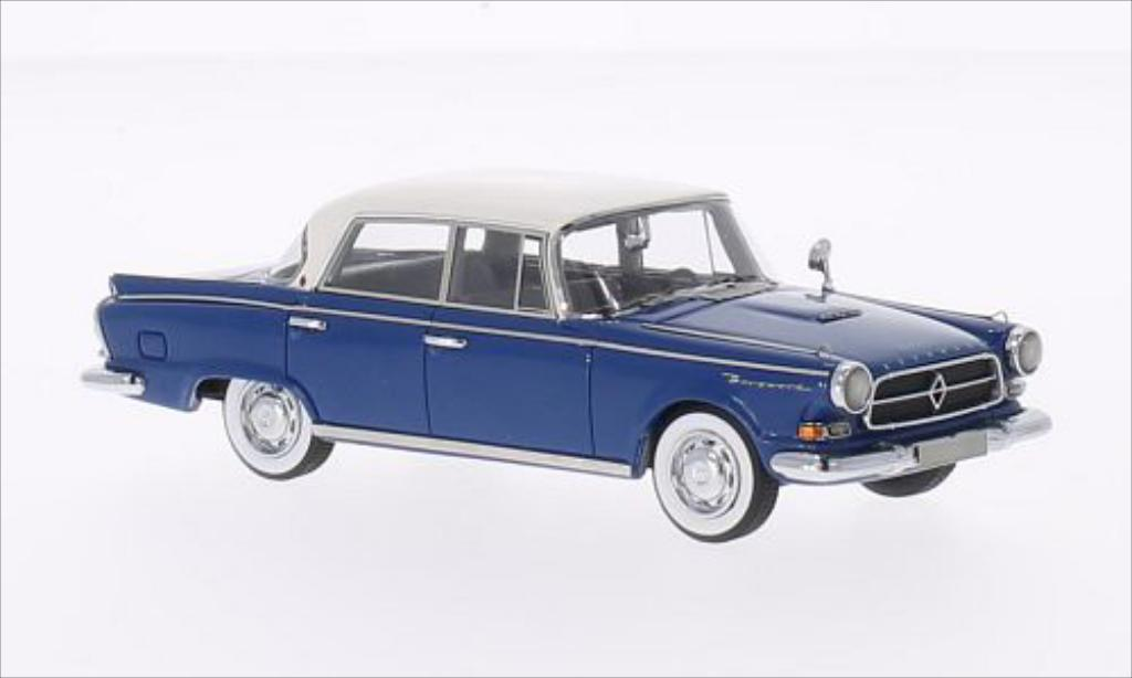 Borgward P100 1/43 Neo bleu/blanche 1960 miniature