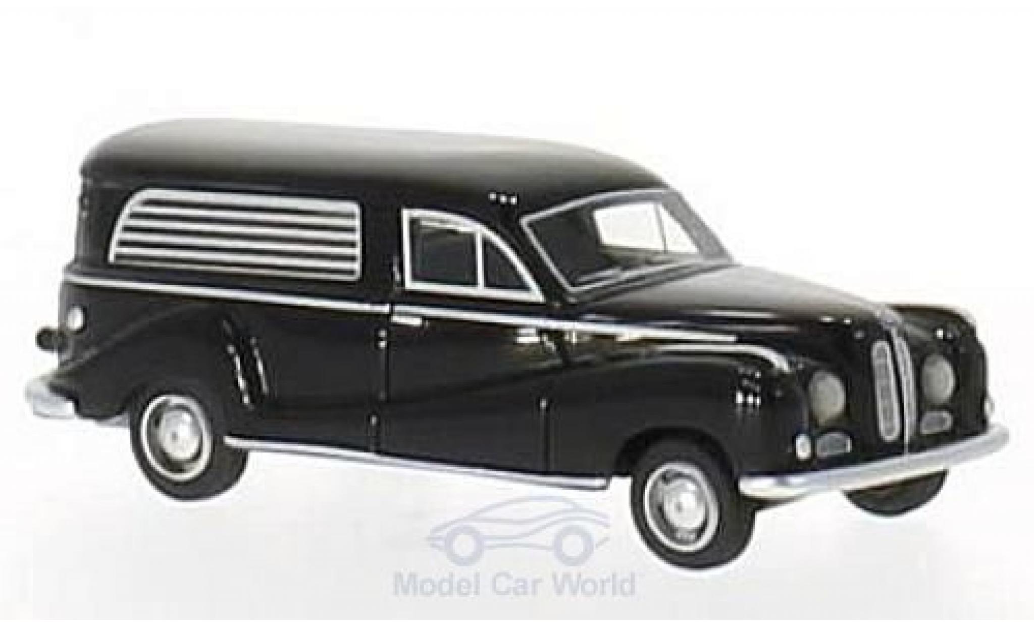 Bmw 502 1/87 BoS Models BMW black 1952 Bestattungswagen