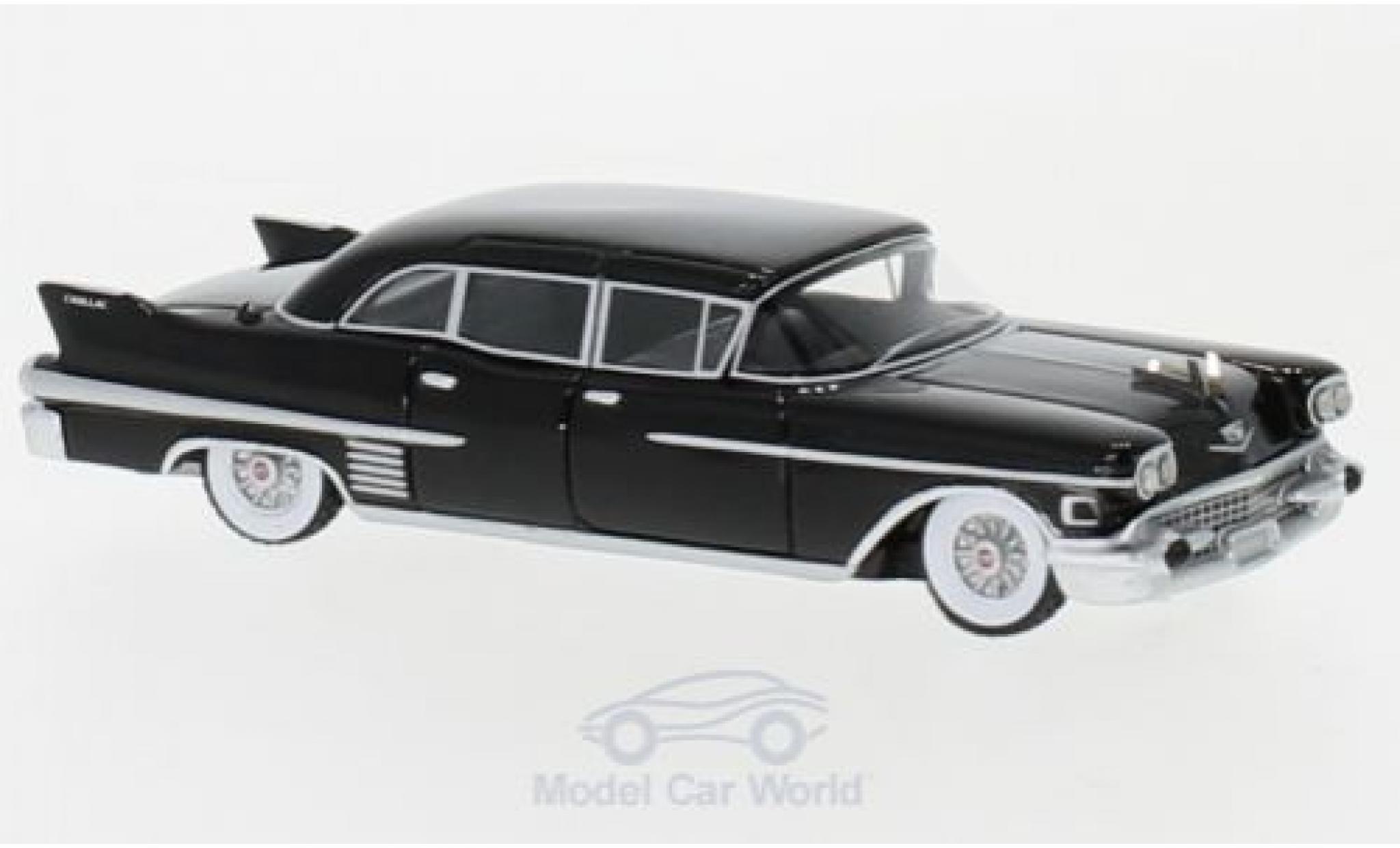 Cadillac Fleetwood 1/18 BoS Models 75 Limousine noire 1958