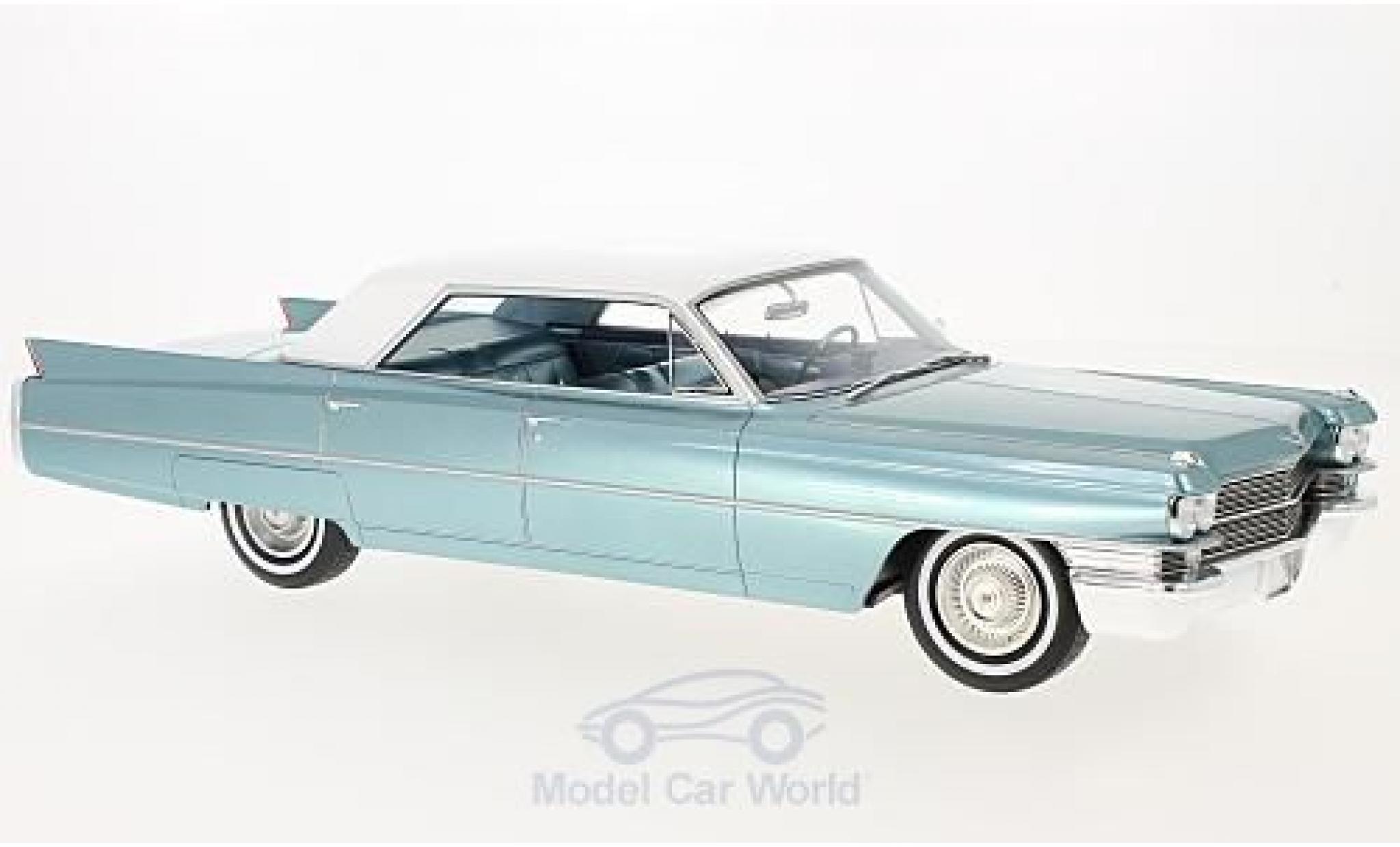 Cadillac Sedan 1/18 BoS Models de Ville metallise turquoise/blanche 1963