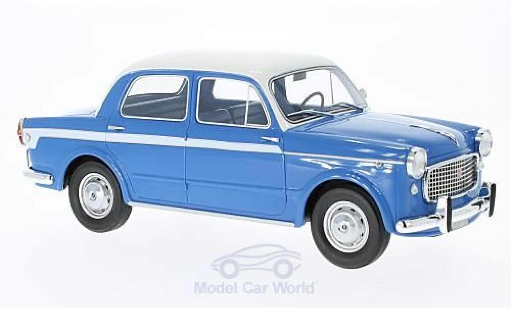 Fiat 1100 1/18 BoS Models Lusso blue/white
