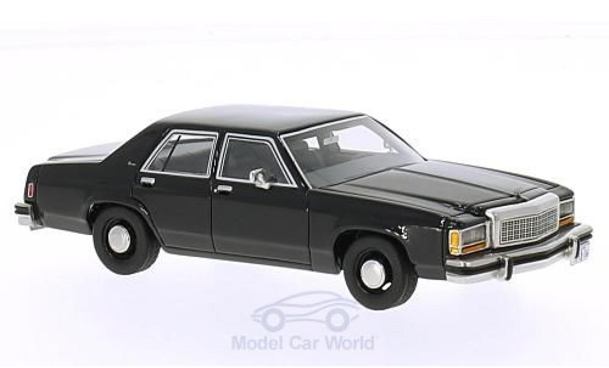 Ford LTD 1/43 BoS Models Crown Victoria noire 1987