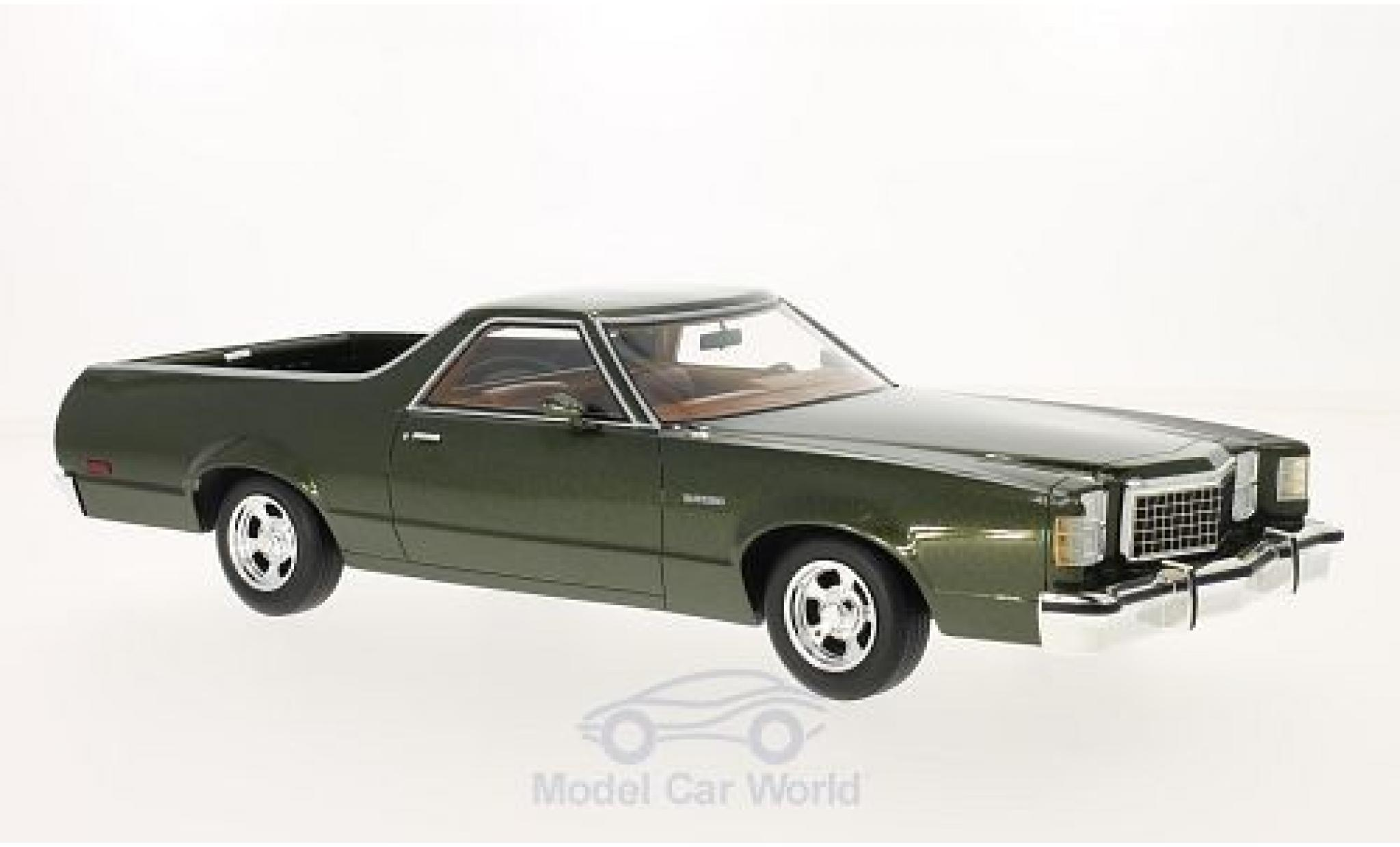 Ford Ranchero 1/18 BoS Models metallise verte 1979