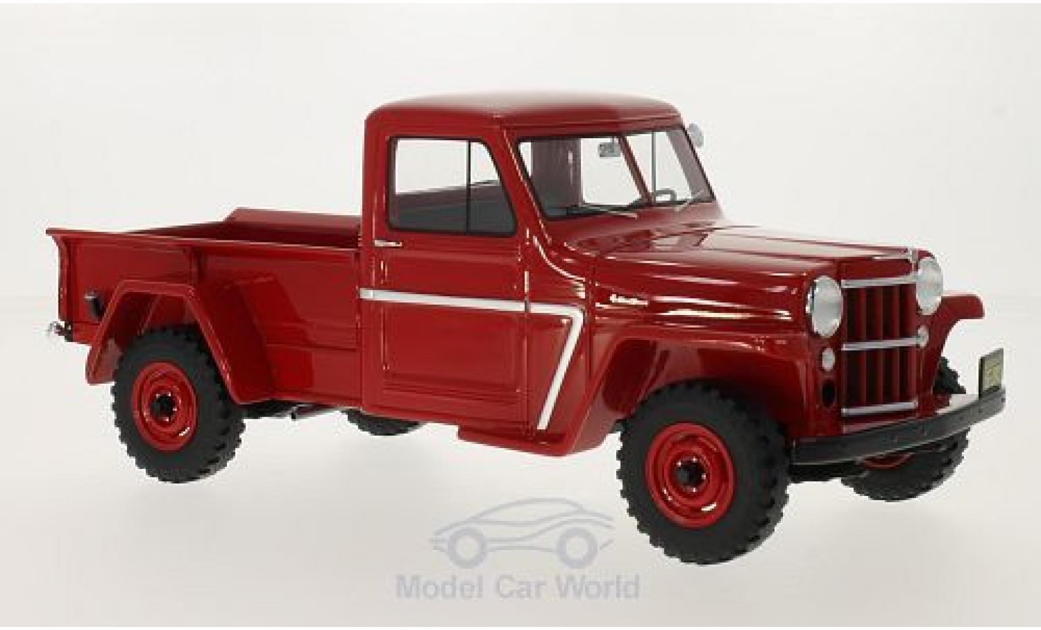 Jeep Willys 1/18 BoS Models Pick Up rojo 1954