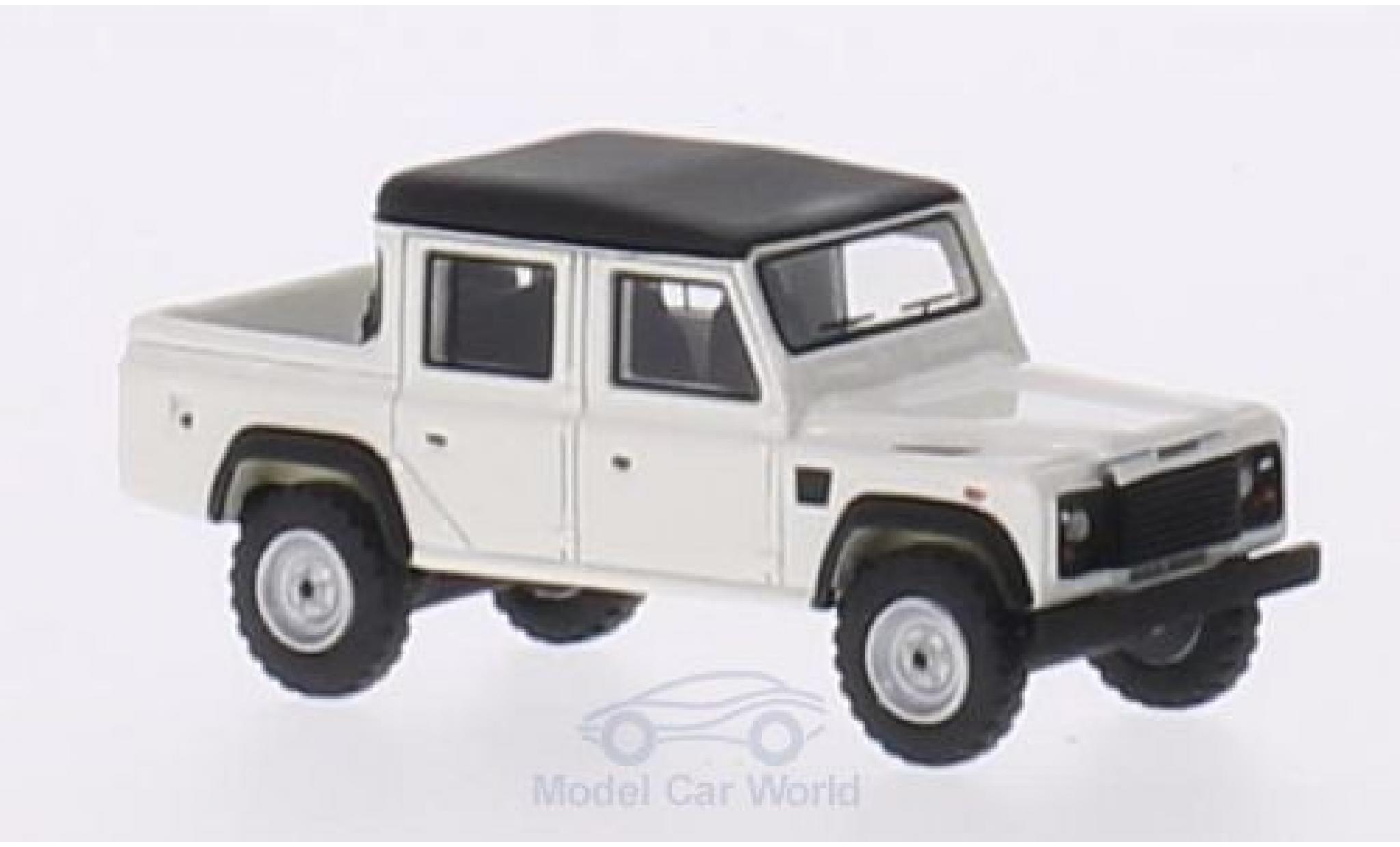 Land Rover Defender 1/87 BoS Models 110 Double Cab Pickup blanche/matt-noire RHD 1990
