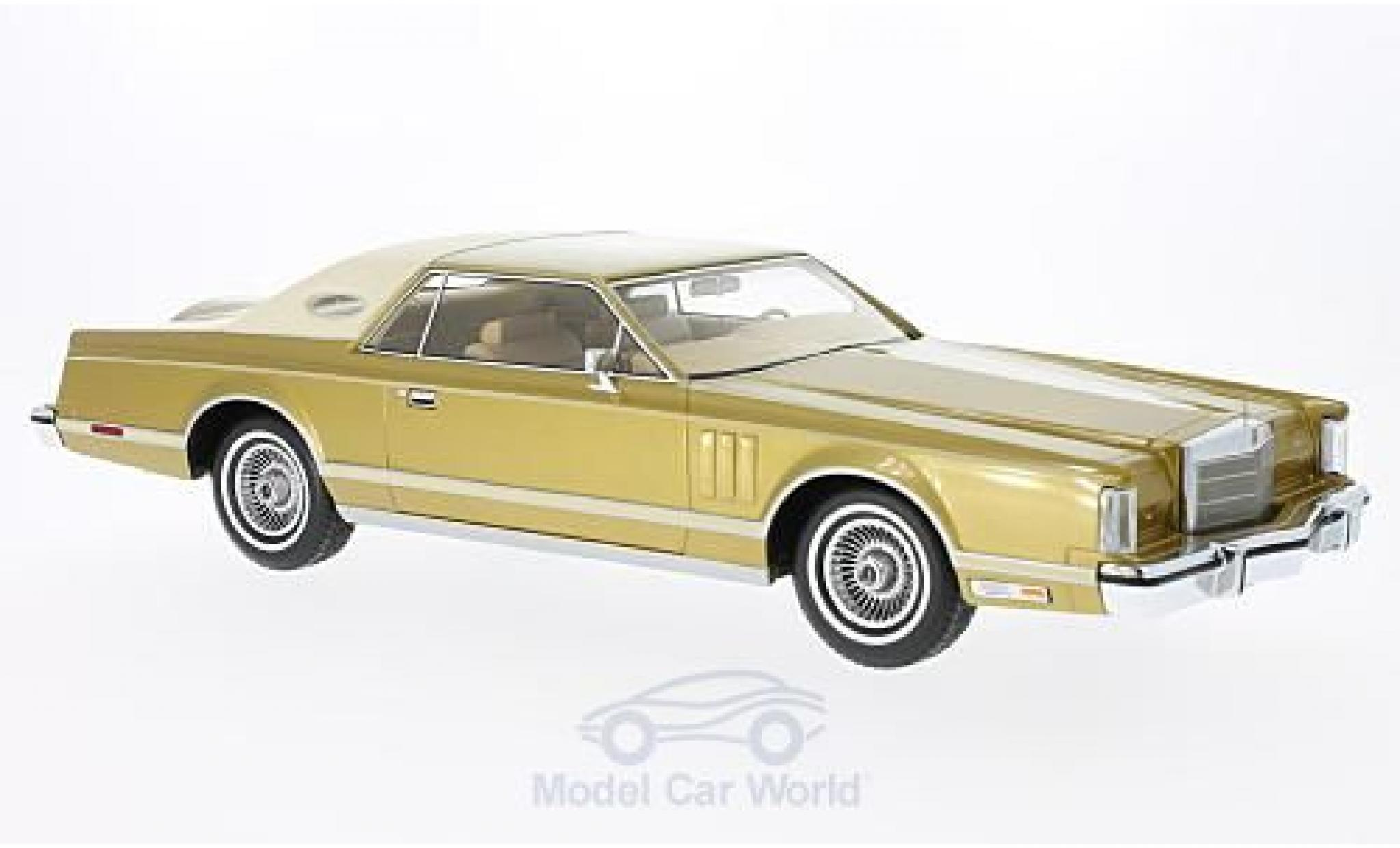Lincoln Continental 1/18 BoS Models MkV Coupe gold/beige 1978