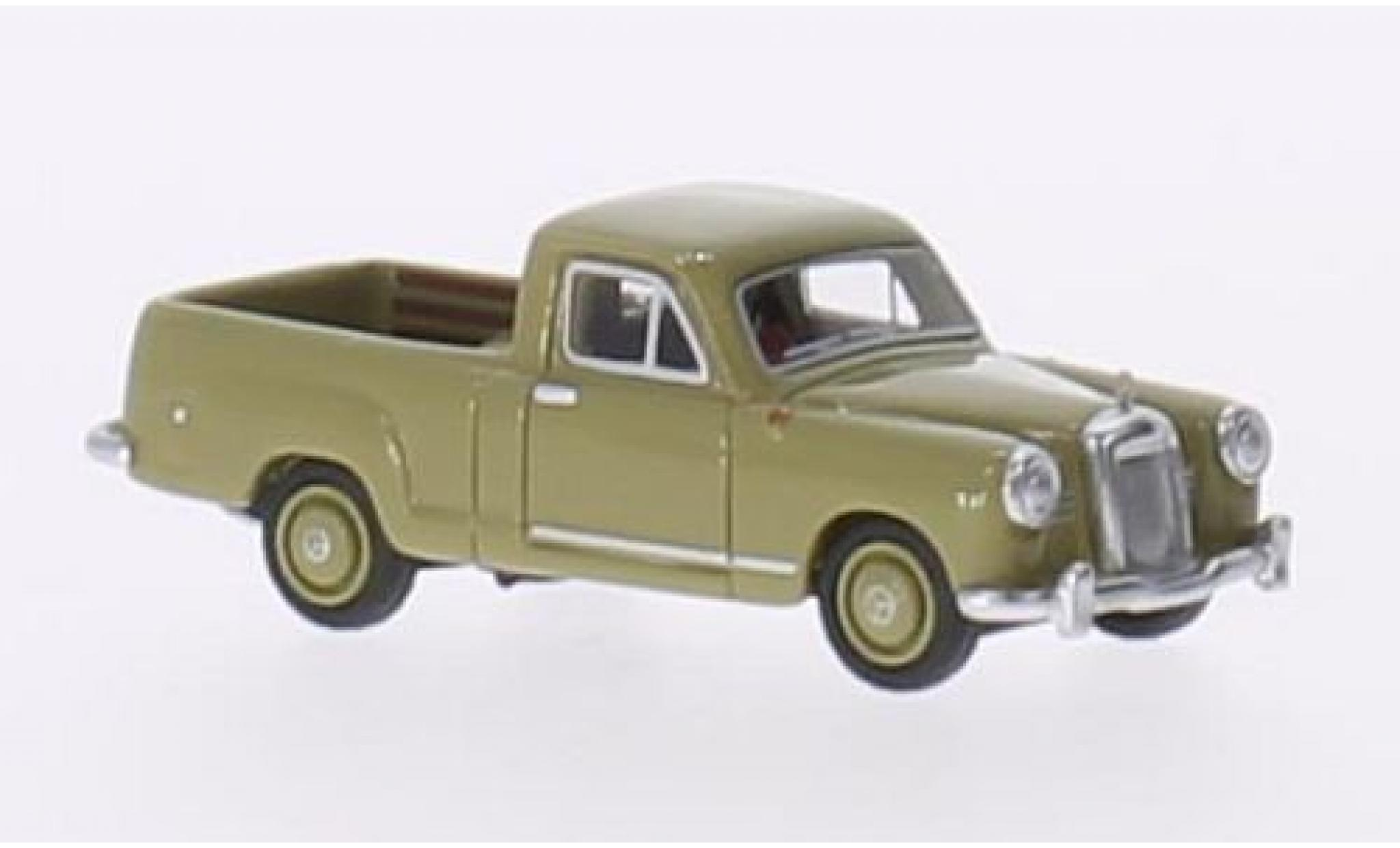 Mercedes 180 1/87 BoS Models (W120) Bakkie oliv RHD 1956