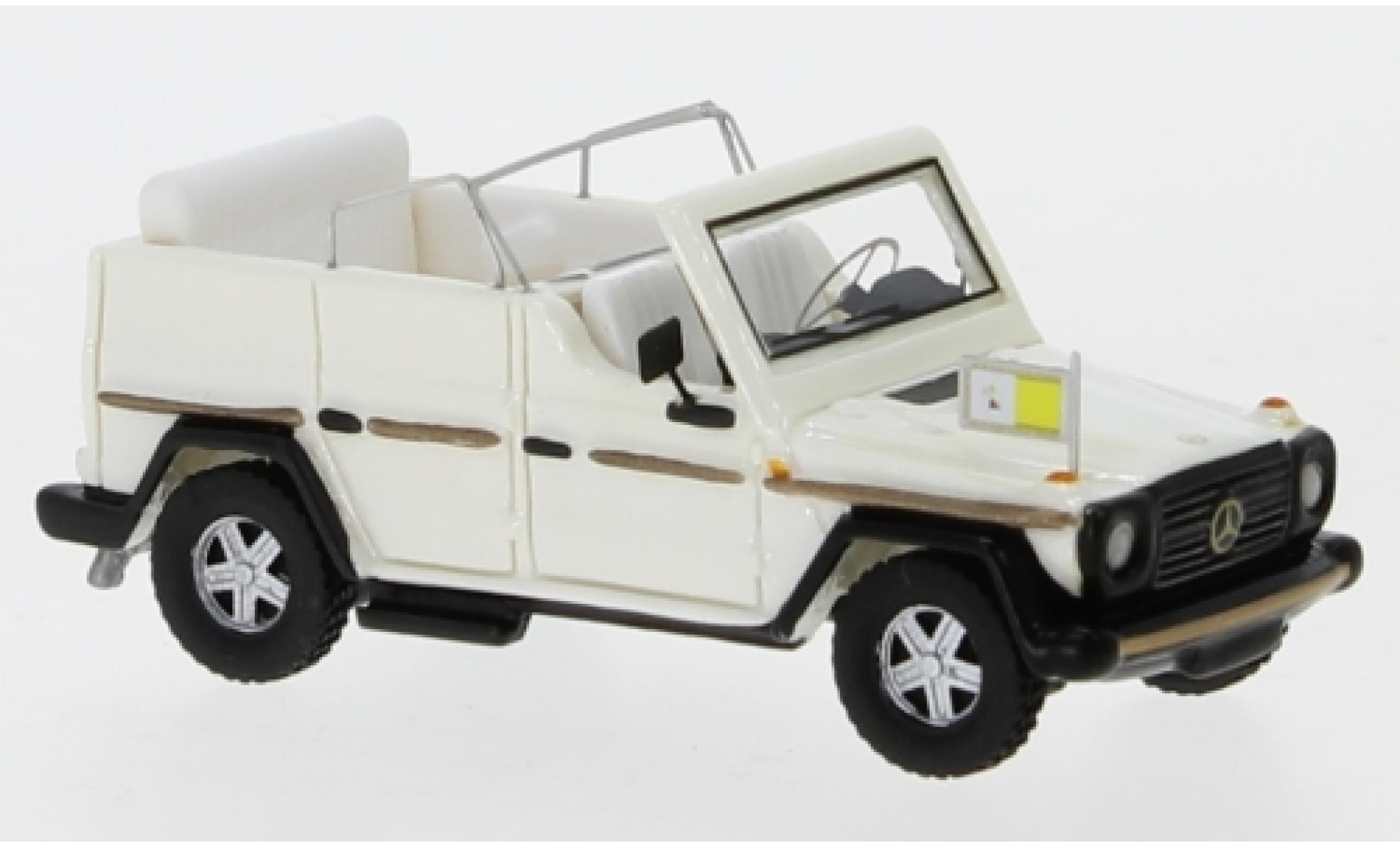 Mercedes 230 1/87 BoS Models G Papamobil métallisé blanche 1980