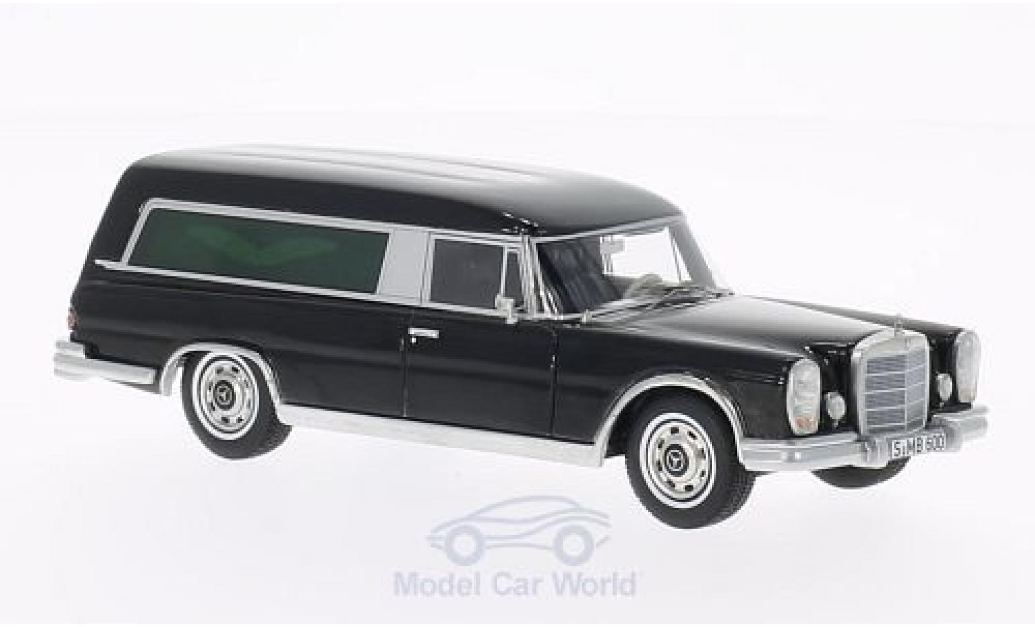 Mercedes 600 1/43 BoS Models Pollmann noire Bestattungswagen